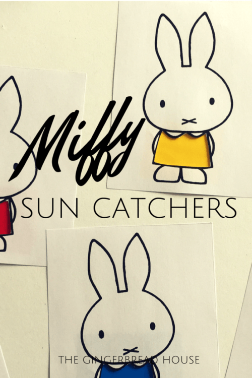 Miffy sun catchers - the gingerbread house