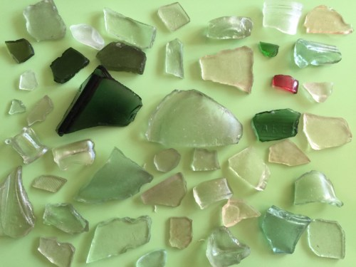 sea glass collection - the gingerbread house