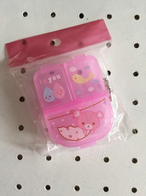 cute kawaii animals pill box