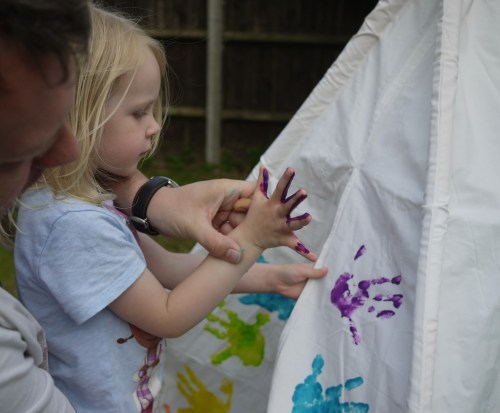 decorating with handprints