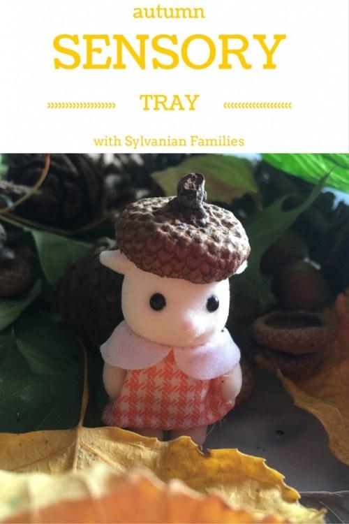 Autumn scavenger hunt and sensory tray