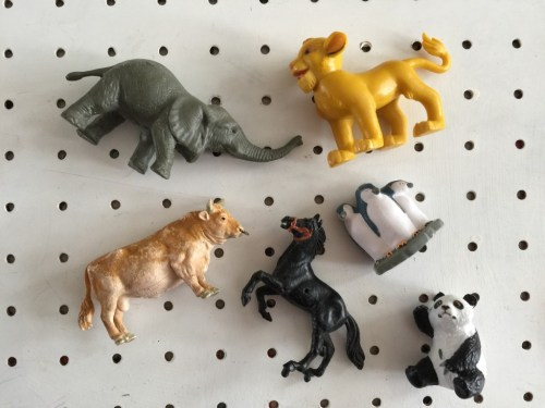 selection of toy zoo animals