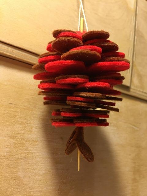Mollie Makes Felt Pine Cone Decorations kit