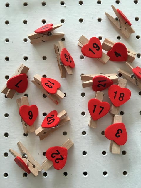 Homemade Christmas Countdown for kids