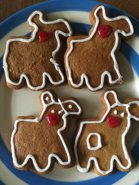 The Snowman and The Snowdog gingerbread biscuits