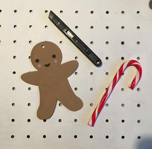 gingerbread candy cane holder