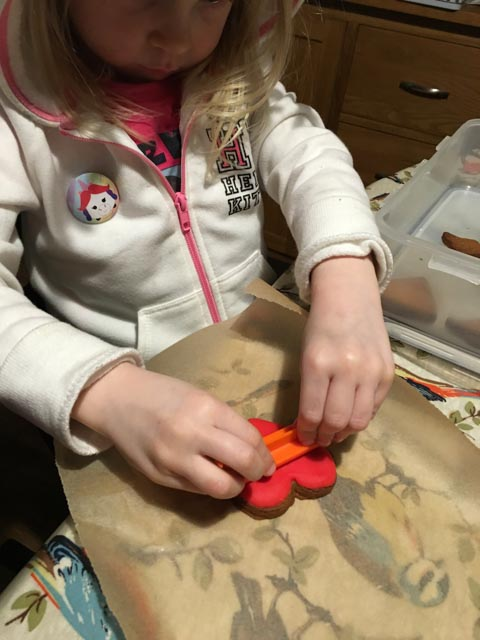 stamping biscuits