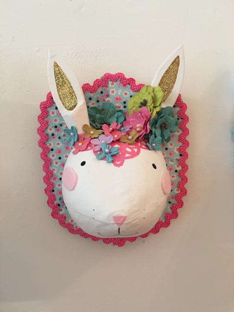 rabbit head decoration from Hobbycraft SS16