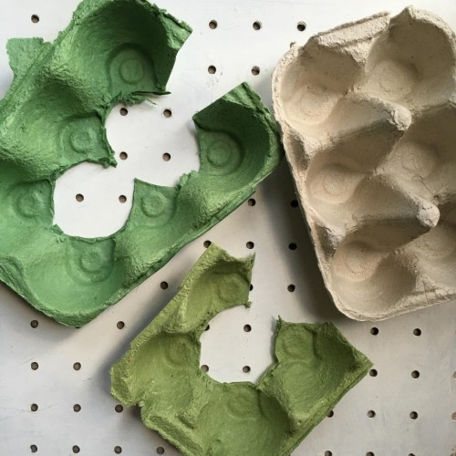 Egg carton flower craft