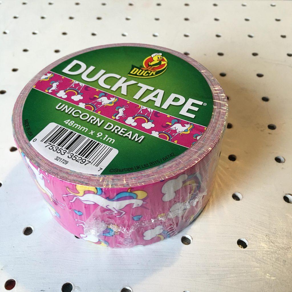 roll of unicorn duck tape