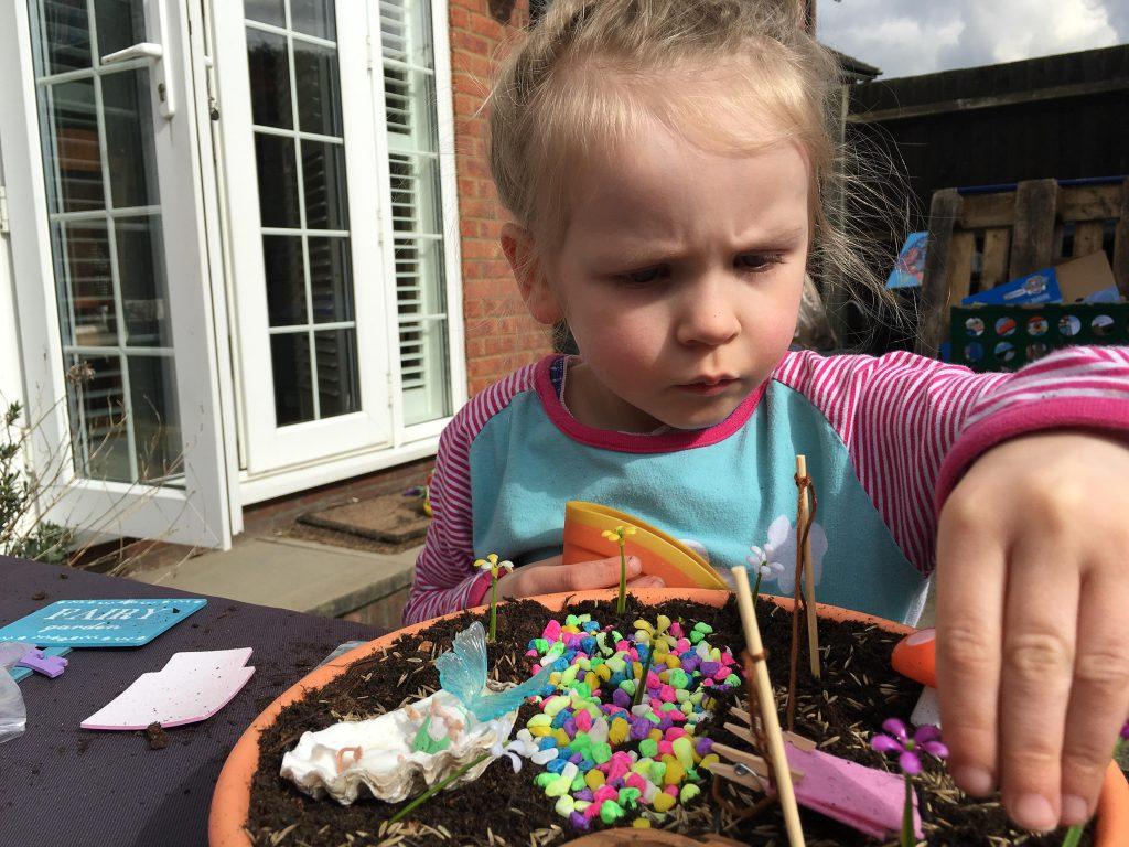 grow a fairy garden in a container