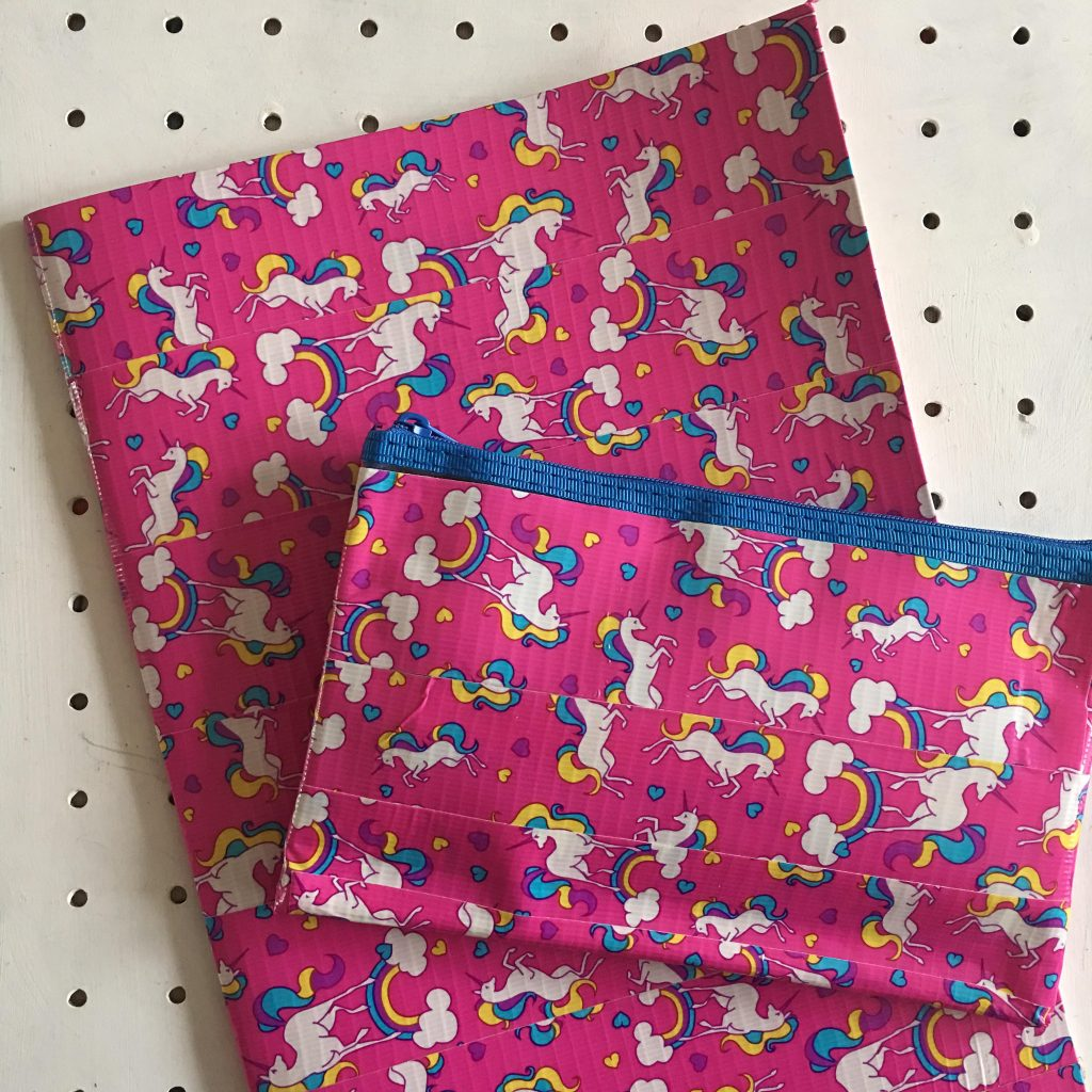 Duck Tape notebook and pencil case
