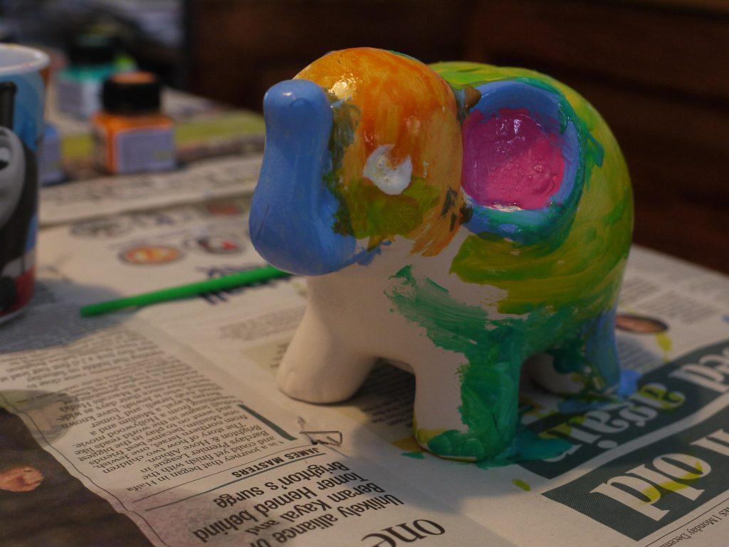 hand painted ELmer the Elephant