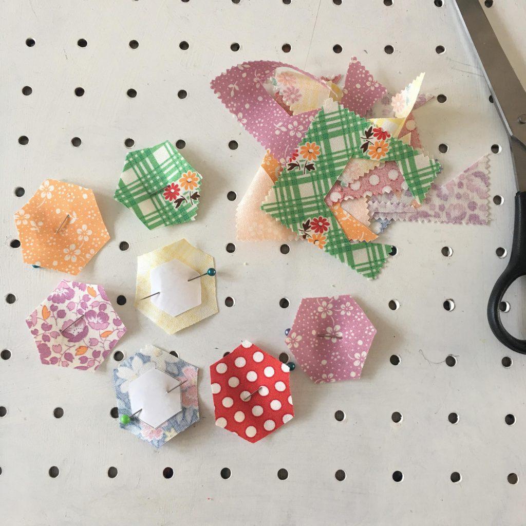 stitching hexagons
