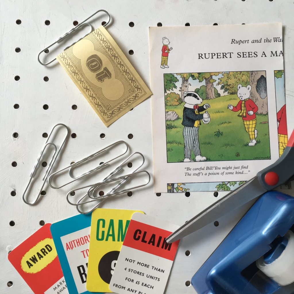 equipment needed to make DIY paper clip bookmarks