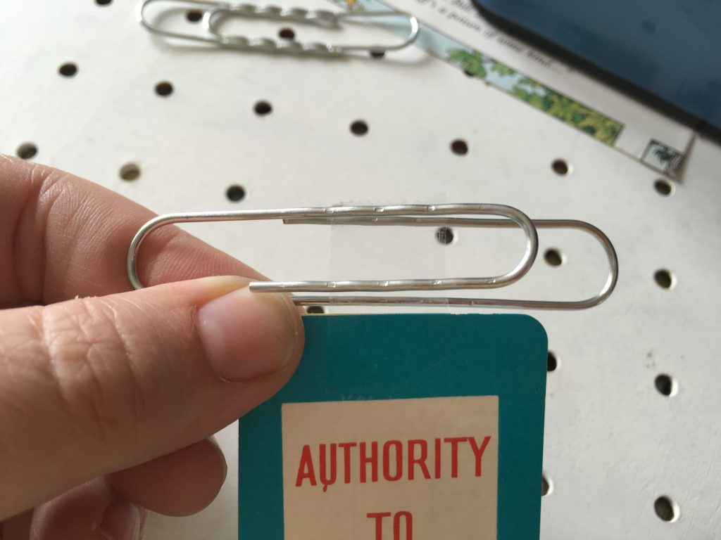 DIY paper clip bookmarks using vintage playing cards