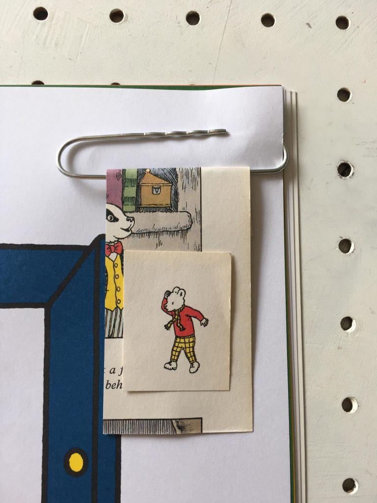 vintage DIY paper clip bookmarks
