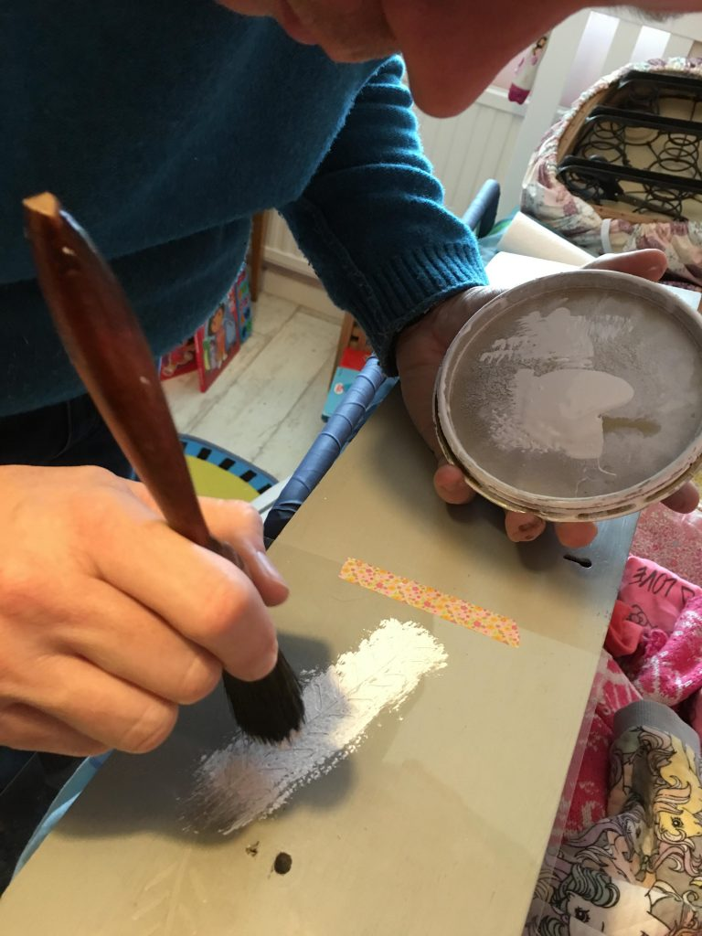 decorating with Annie Sloan stencil