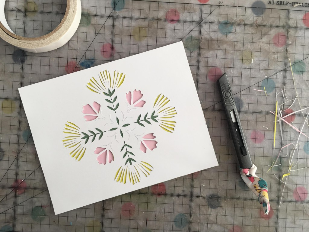 floral mandala from Mollie Makes Creativity