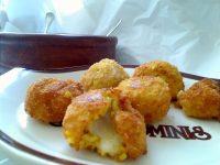 Risotto Rice Balls with Garlic Basil Tomato Mayonnaise