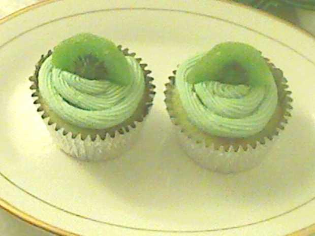 Kiwi Lime Cupcakes