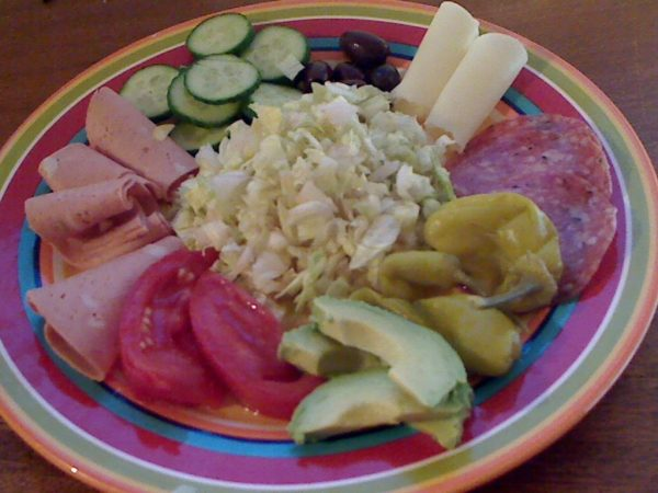 Antipasto with Original Brown Derby Salad Dressing