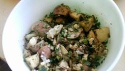 German Blue Cheese Red Potato Salad