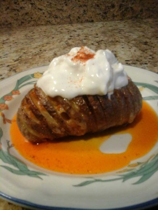 Hasselback Potatoes in the Microwave