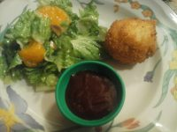 Meatloaf Stuffed Potato Balls with Dragon Sauce