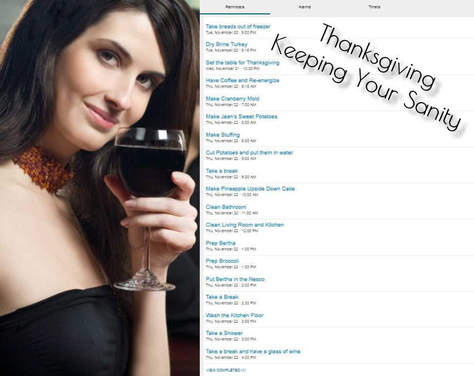 Thanksgiving The Day Of - Keep Your Sanity
