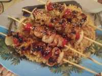 Silk Road Chicken Kabobs with Rice Pilaf