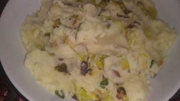 Colcannon with Bacon and White Cheddar