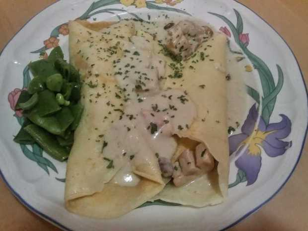 Chicken and Blue Cheese Crepes