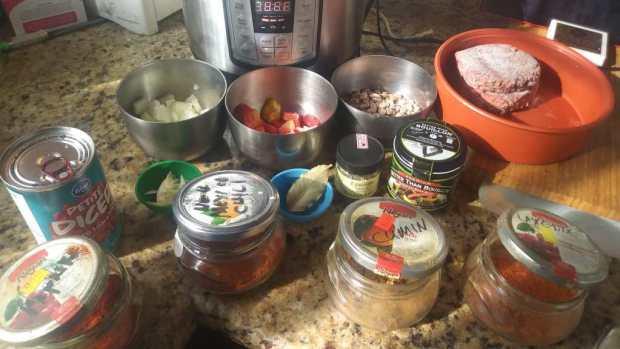 Mise en Place for Instant Pot Chili Con Carne