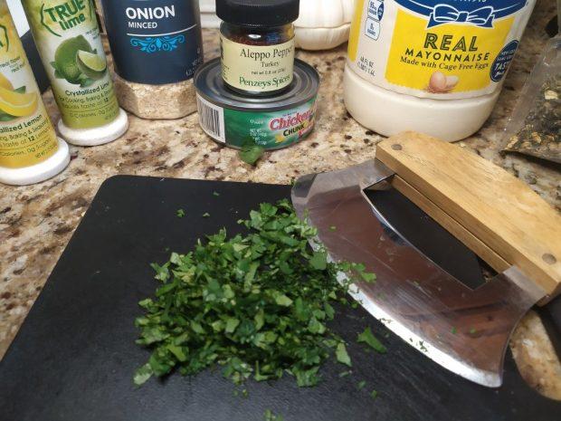 Minced cilantro