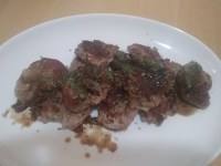 Pork loin medallions with fennel and garlic