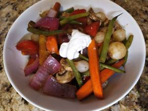 Roasted Vegetables with Balsamic Butter Sauce