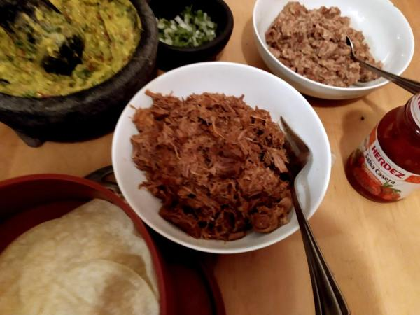 carnitas and all the fixings