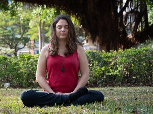 healing meditation pose