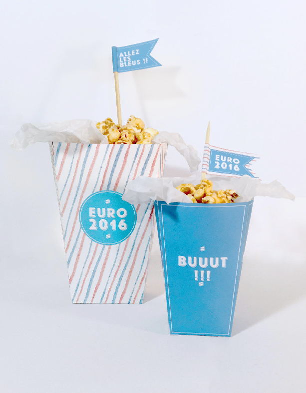 DIY - pop-corn Euro 2016