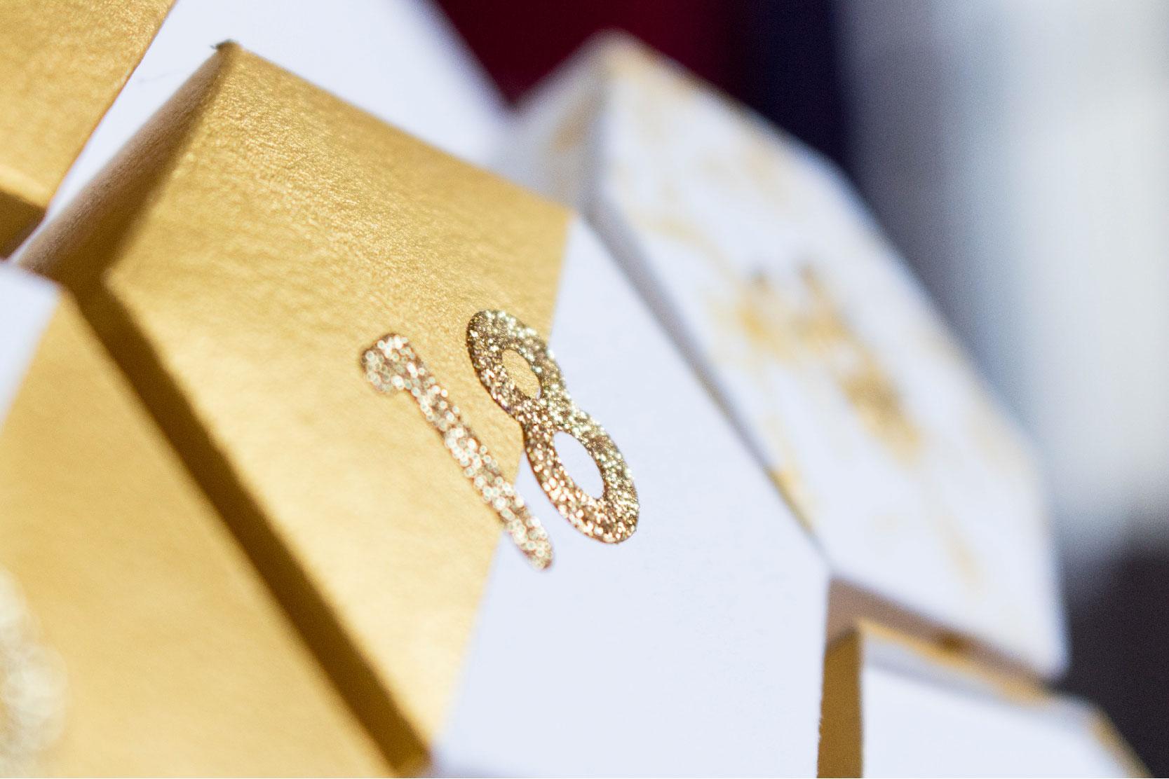 DIY calendrier de l'avent Graphic & Gold