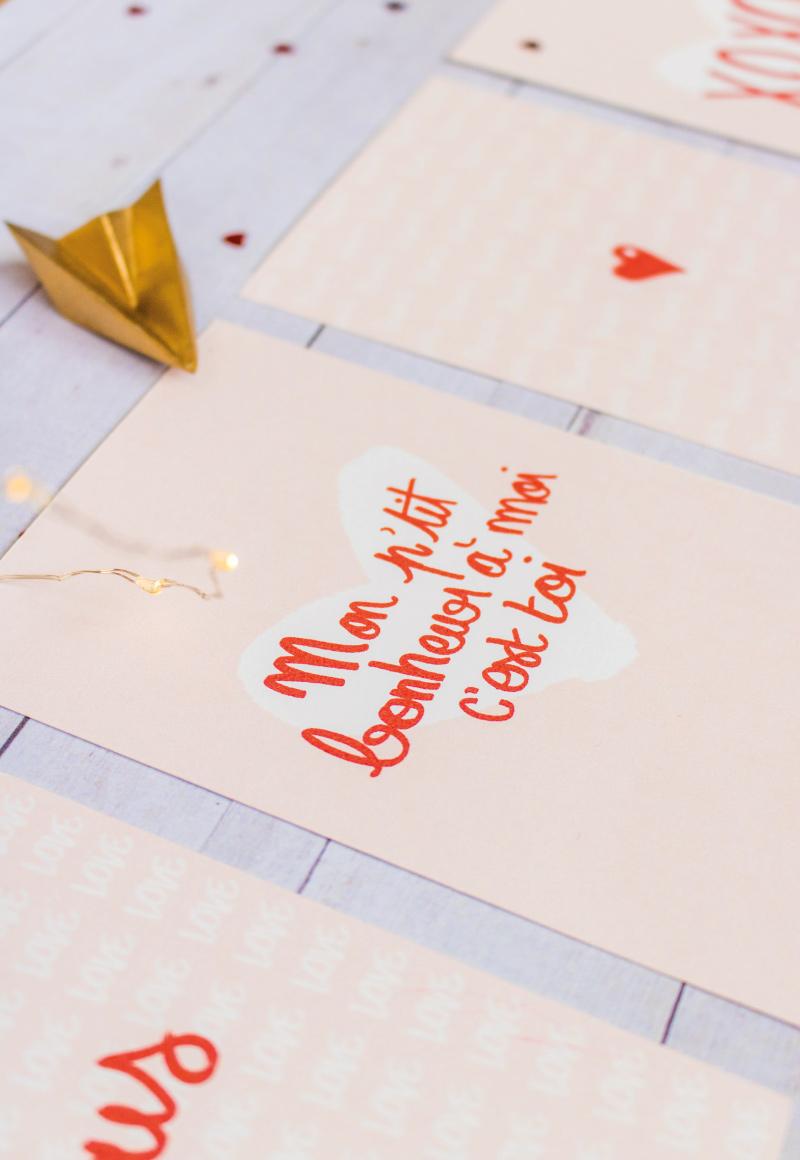 Cartes petits mots doux St Valentin - «Mon p'tit bonheur à moi, c'est toi»