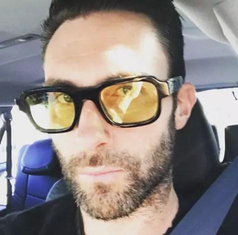 Adam Levine, Favorite Glasses Selfie