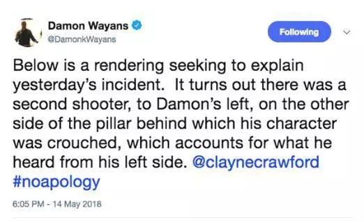 Damon wayans 05 weird second shooter tweet
