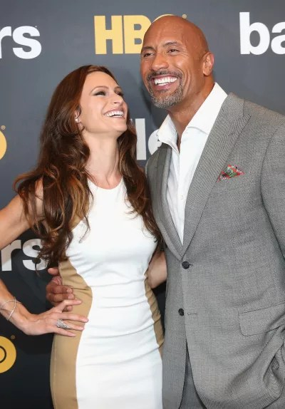 Lauren Hashian with Dwayne Johnson