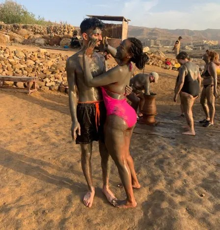 Brittany Banks and Yazan Abo Horira By the Dead Sea