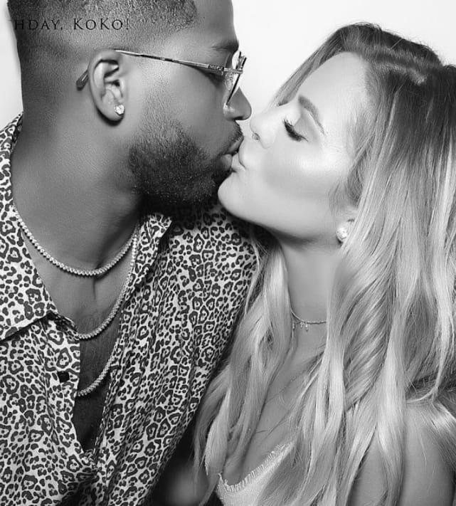 Khloe kardashian and tristan kiss