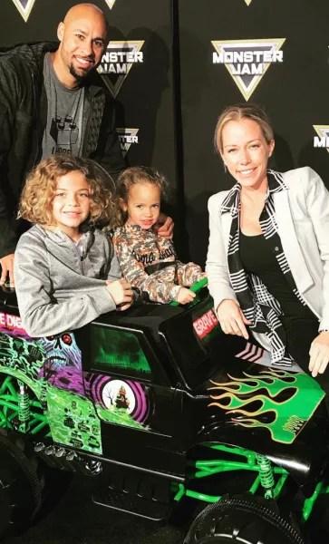 Kendra Wilkinson and Hank Baskett and Kids