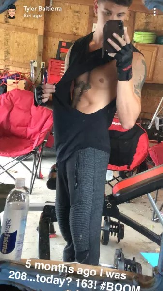 Tylier Baltierra Posts Weight Loss Thirst Trap