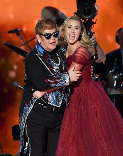 Elton John and Miley Cyrus Picture